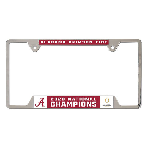 Alabama Crimson Tide 2020 National Champions Metal License Plate Frame - Fan Shop TODAY