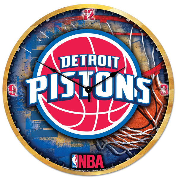 "Pistons NBA HD Wall Clock 18"" - Fan Shop TODAY"