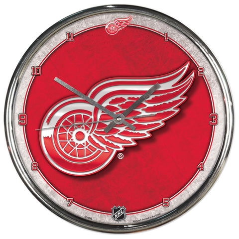 Detroit Red Wings Chrome Wall Clock - Fan Shop TODAY