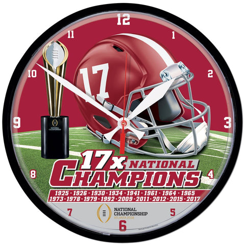 Alabama Crimson Tide National Champions Wall Clock - Fan Shop TODAY