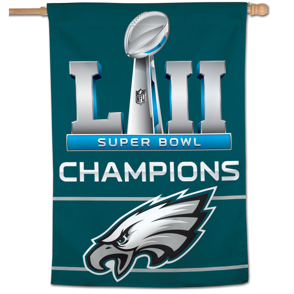 "Philadelphia Eagles Super Bowl LII Champions 28"" x 40"" Vertical Banner - Fan Shop TODAY"