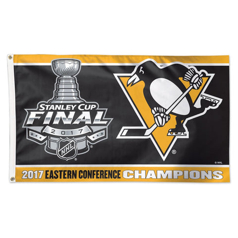 Penguins NHL 2017 Eastern Conference Champions 3' x 5' Deluxe Flag - Fan Shop TODAY