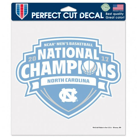 UNC Tar Heels 2017 NCAA National Champions Decal 8x8 - Fan Shop TODAY