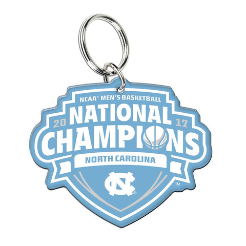 UNC Tar Heels 2017 NCAA Men's Basketball National Champions Premium Acrylic Key Ring - Fan Shop TODAY