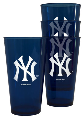 New York Yankees MLB Plastic Pint Glass Set ( 4 Pack) - Fan Shop TODAY