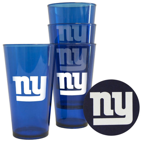 Giants NFL Plastic Pint Glass & Coasters Set - Fan Shop TODAY