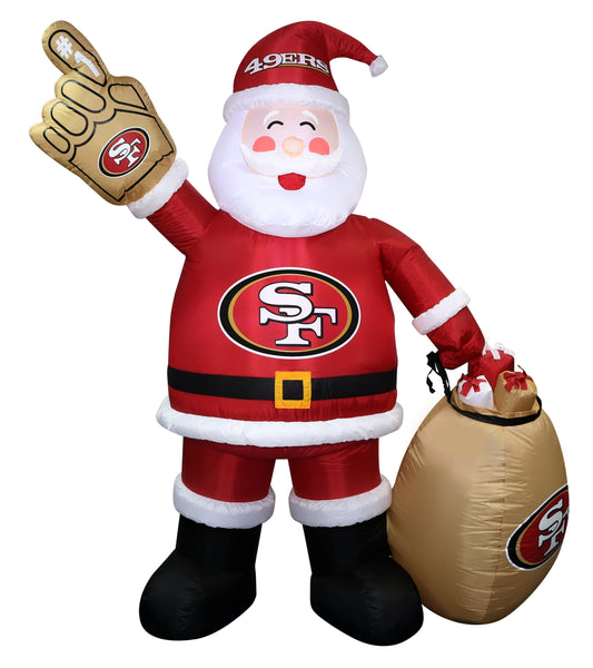 San Francisco 49ers NFL Inflatable Santa 7' - Fan Shop TODAY