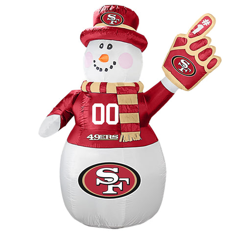 San Francisco 49ers NFL Inflatable Snowman 7' - Fan Shop TODAY