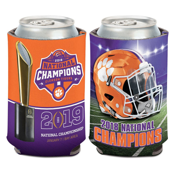 Clemson Tigers 2018 National Champions Can Cooler - Fan Shop TODAY