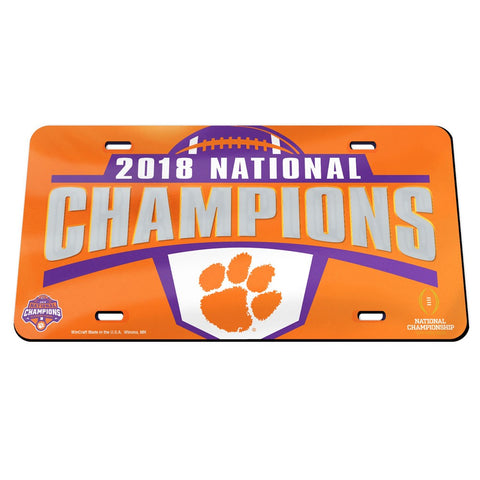 Clemson Tigers 2018 National Champions Inlaid License Plate - Fan Shop TODAY