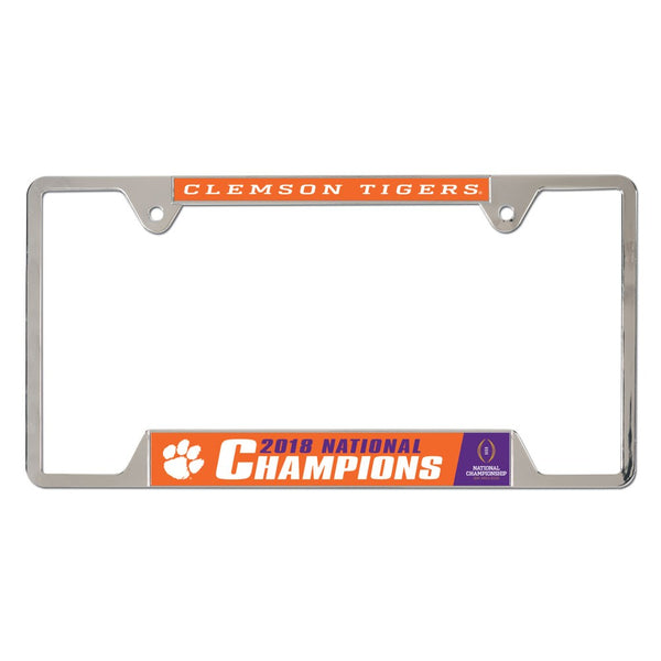 Clemson Tigers 2018 National Champions License Plate Frame - Fan Shop TODAY
