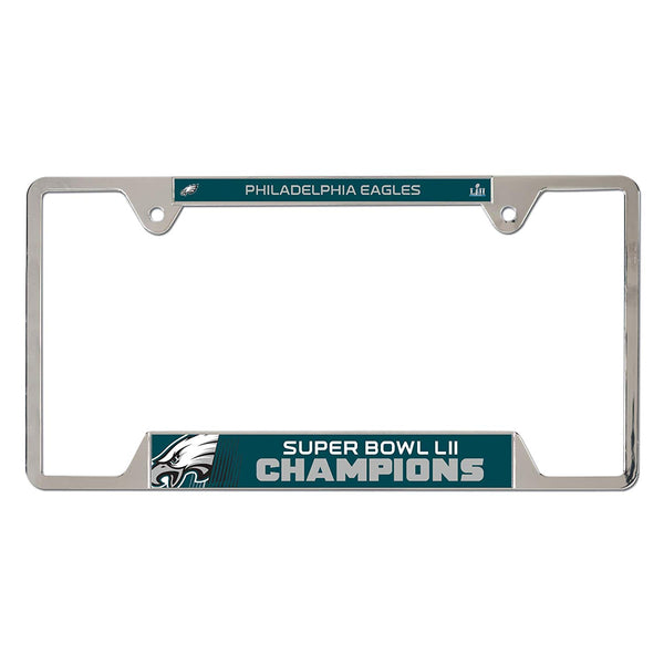 Philadelphia Eagles Super Bowl LII Champions Metal License Plate Frames - Fan Shop TODAY
