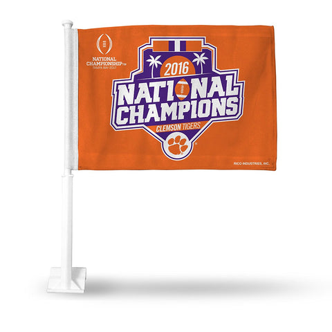 "Clemson Tigers NCAA 2016 ""National Champions"" Fan Auto Flag - Fan Shop TODAY"