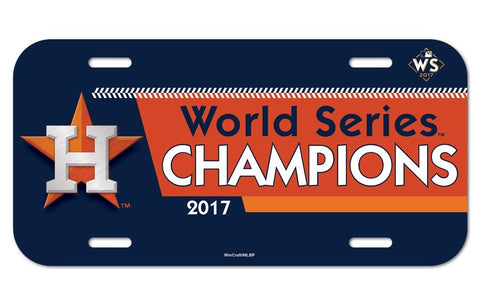 Houston Astros 2017 World Series Champions License Plate - Fan Shop TODAY