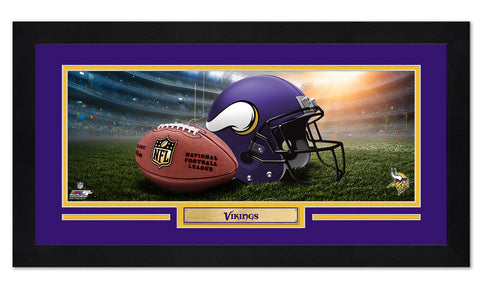 Minnesota Vikings Framed Print 13x7 - Fan Shop TODAY