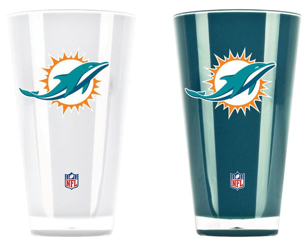 Miami Dolphins Insulated Tumblers - Set of 2 (20 oz) - Fan Shop TODAY