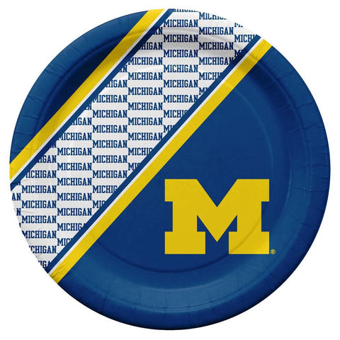 Wolverines NCAA Paper Plates 20 Pack - Fan Shop TODAY