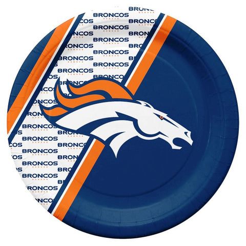 Denver Broncos NFL Paper Plates 20 Pack - Fan Shop TODAY