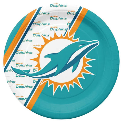 Miami Dolphins Paper Plates 20 Pack - Fan Shop TODAY