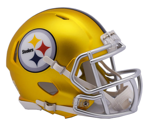 Pittsburgh Steelers Riddell BLAZE Alternate Mini Football Helmet - Fan Shop TODAY