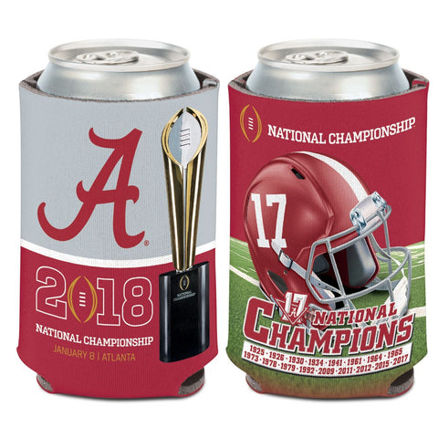 Alabama Crimson Tide College Football 2017 National Champions Can Cooler - Fan Shop TODAY