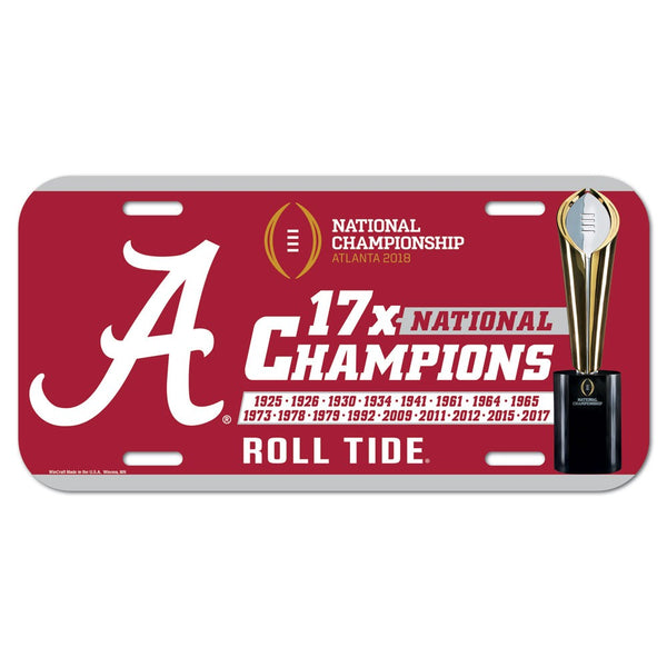 Alabama Crimson Tide National Champions Acrylic License Plate - Fan Shop TODAY