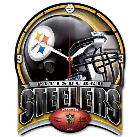 "Steelers NFL Plaque HD Wall Clock 13"" - Fan Shop TODAY"