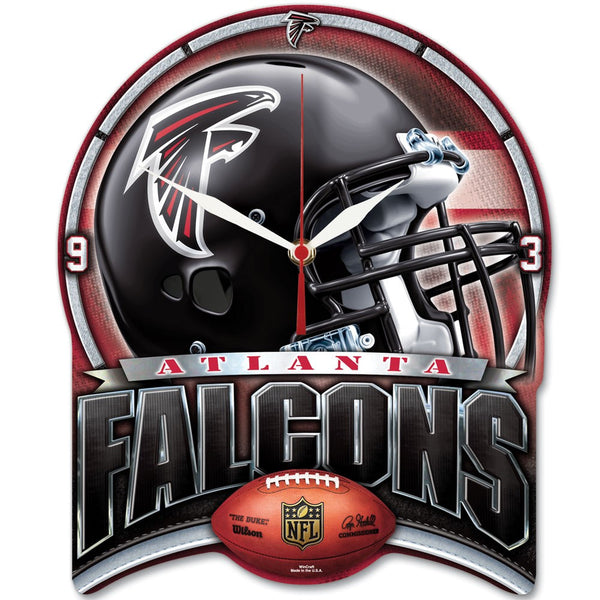 "Falcons NFL Plaque HD Clock 13"" - Fan Shop TODAY"