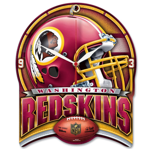 "Redskins NFL Plaque HD Clock 13"" - Fan Shop TODAY"