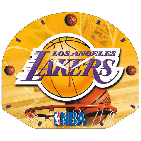 "Lakers NBA Plaque HD Wall Clock 13"" - Fan Shop TODAY"