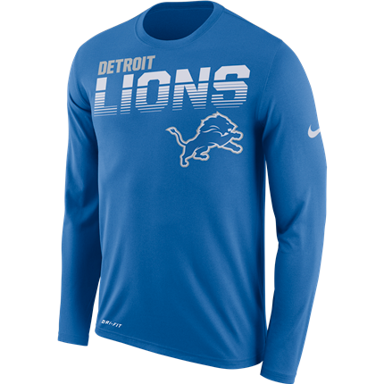 Detroit Lions Nike Sideline Line of Scrimmage T-Shirt - Fan Shop TODAY