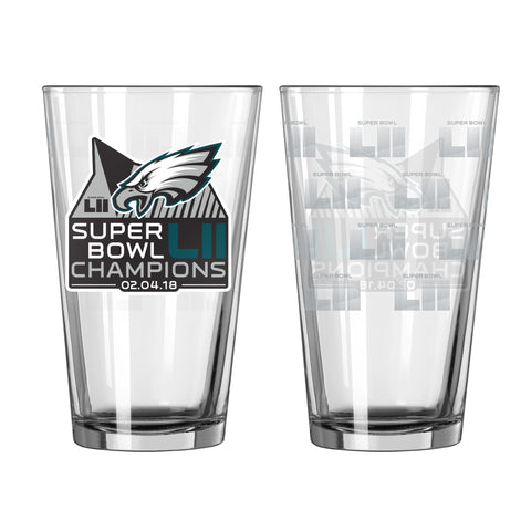 Philadelphia Eagles Super Bowl Champions Pint Glass - Fan Shop TODAY