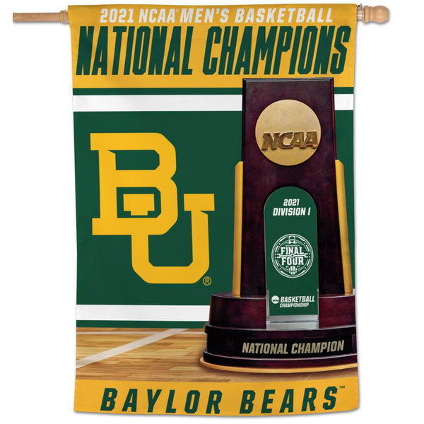 "Baylor Bears 2021 NCAA National Champions Vertical Banner Flag 28"" x 40"" - Fan Shop TODAY"