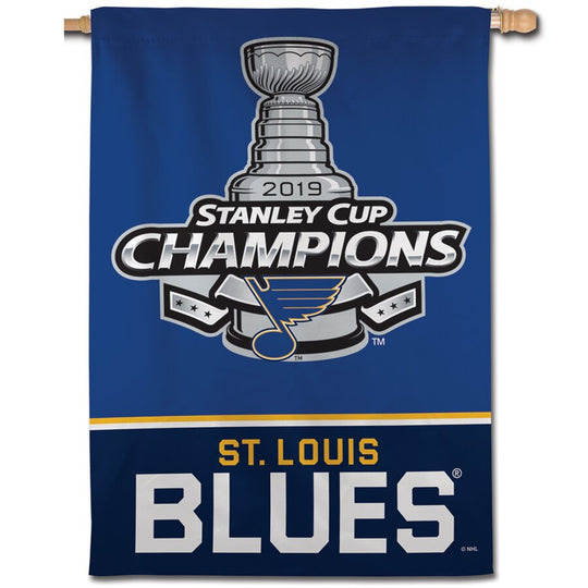 "St. Louis Blues 2019 Stanley Cup Champions Champions Banner 28"" x 40"" - Fan Shop TODAY"