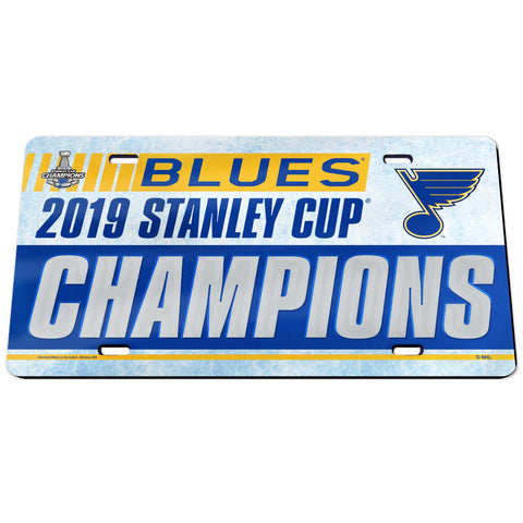 St. Louis Blues 2019 Stanley Cup Champions Inlaid License Plate - Fan Shop TODAY