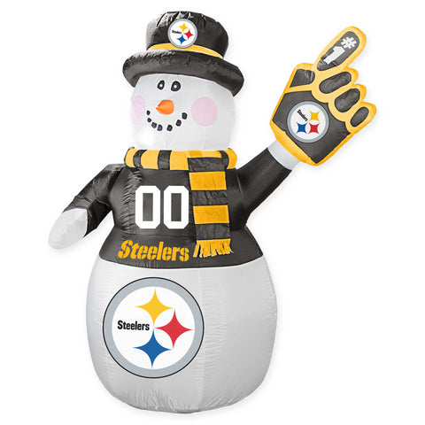 Pittsburgh Steelers NFL Inflatable Snowman 7' - Fan Shop TODAY