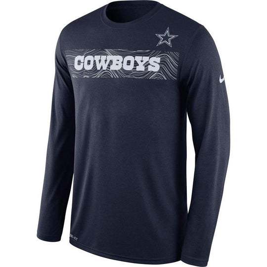 Dallas Cowboys Nike Sideline Legend Performance Long Sleeve Shirt - Fan Shop TODAY