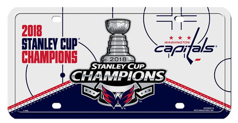 Washington Capitals 2018 Stanley Cup Champions Metal License Plate - Fan Shop TODAY