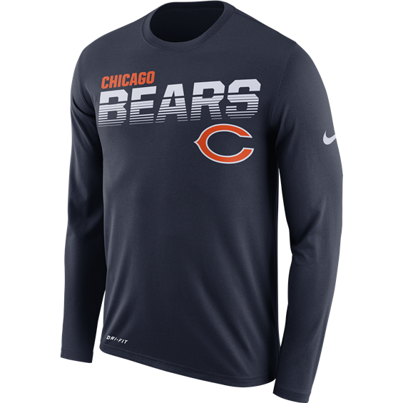 Chicago Bears Nike Sideline Line of Scrimmage Long Sleeve T-Shirt - Fan Shop TODAY