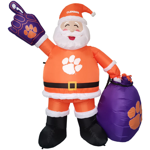 Clemson Tigers 7' Inflatable Santa - Fan Shop TODAY