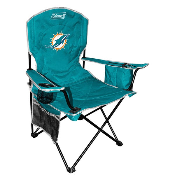 Miami Dolphins Coleman XL Cooler Quad Chair - Fan Shop TODAY
