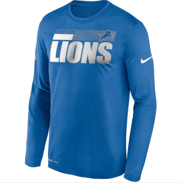 Detroit Lions Nike Sideline Impact Performance Long Sleeve T-Shirt - Fan Shop TODAY