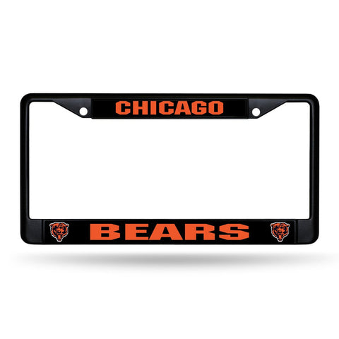 Bears NFL Chrome License Plate Frame (Black) - Fan Shop TODAY