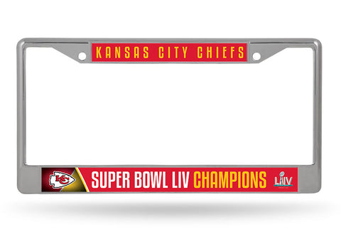 Kansas City Chiefs Super Bowl LIV Champions License Plate Frames - Fan Shop TODAY