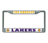 Lakers NBA Chrome License Plate Frames - Fan Shop TODAY