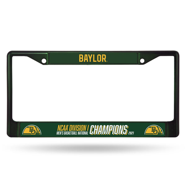 Baylor Bears 2021 NCAA National Champions Color Chrome License Plate Frame - Fan Shop TODAY