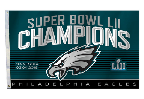 Philadelphia Eagles Super Bowl LII Champions Flag 3' x 5' - Fan Shop TODAY
