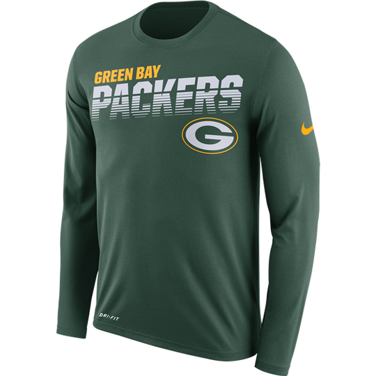 Green Bay Packers Nike Sideline Line of Scrimmage Long Sleeve T-Shirt - Fan Shop TODAY