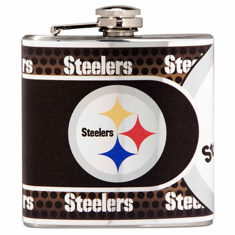 Steelers NFL 6oz Metallic Wrap Flask - Fan Shop TODAY