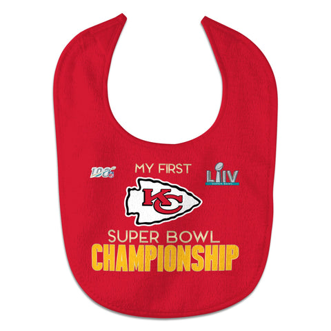 Kansas City Chiefs Super Bowl LIV Champions Infant All Pro Baby Bib - Fan Shop TODAY